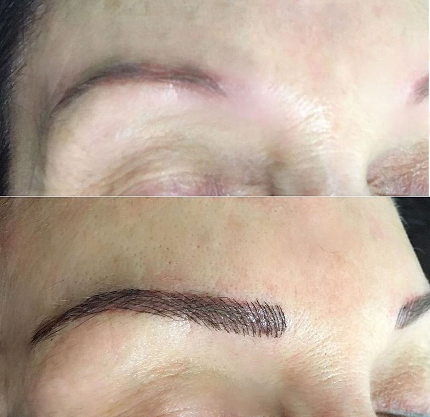 eyebrow tattoo correction