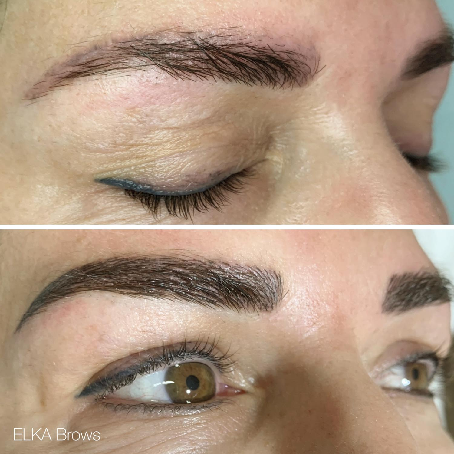 eyebrow tattoo correction session