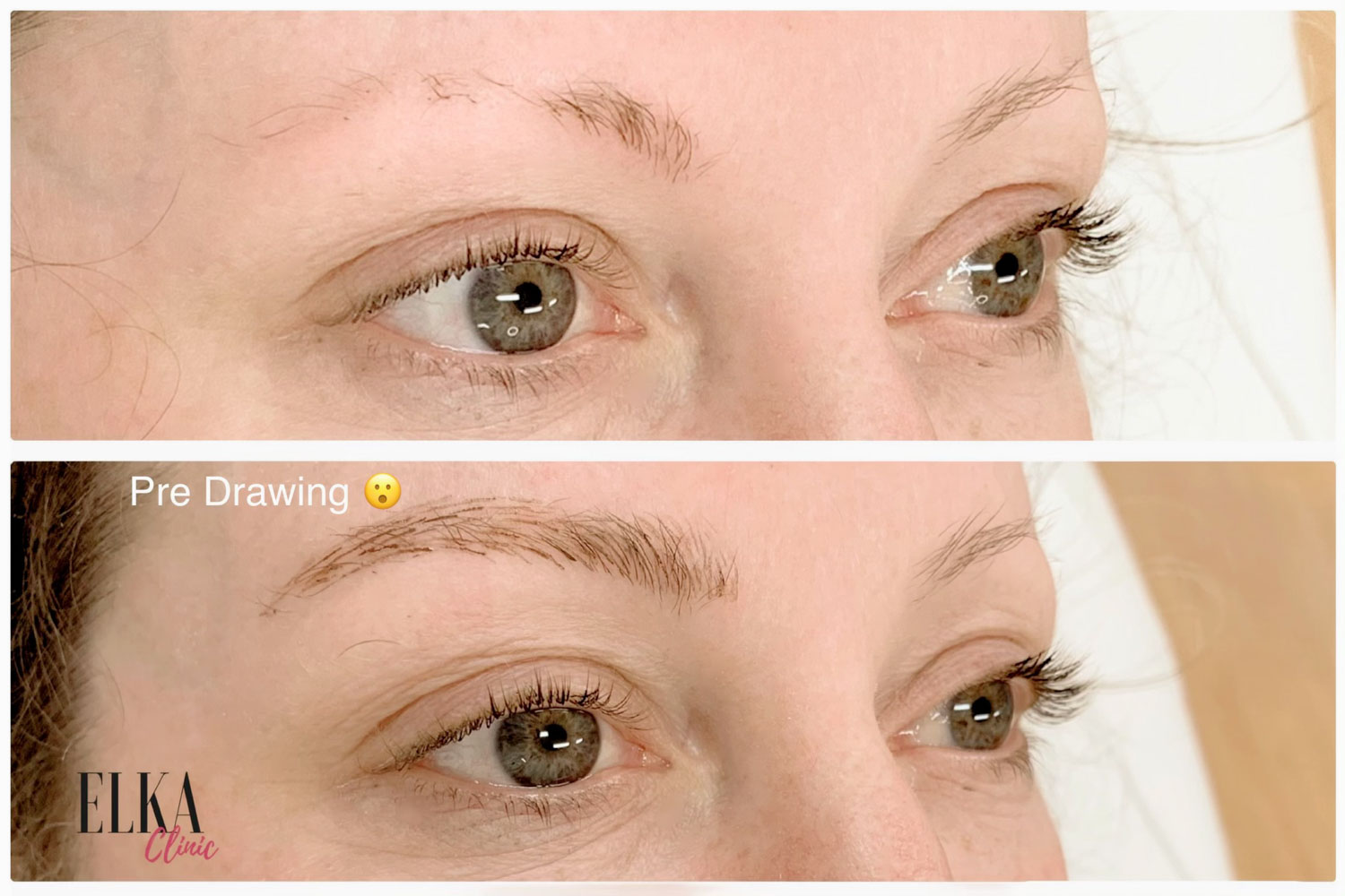 eyebrow tattoo pre drawing