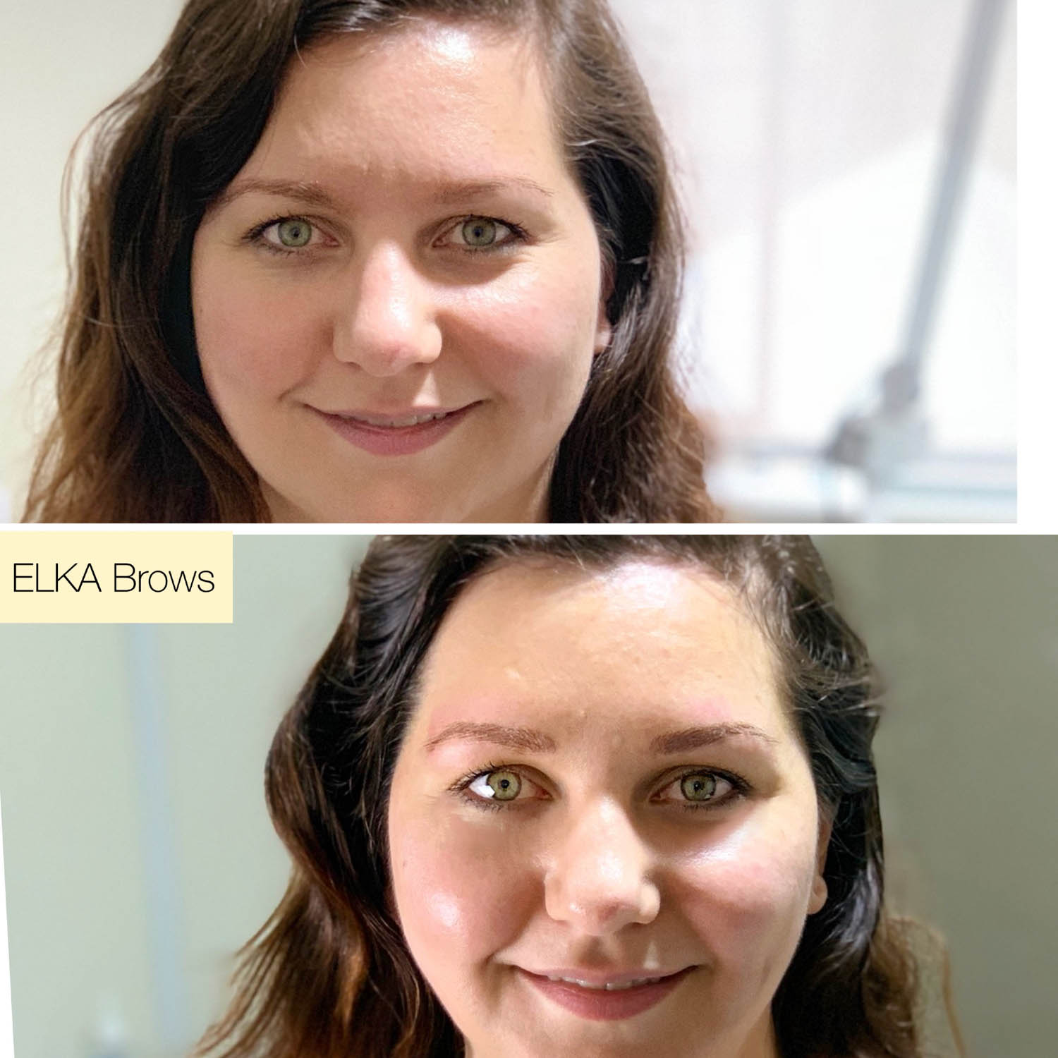 nano brows before and after