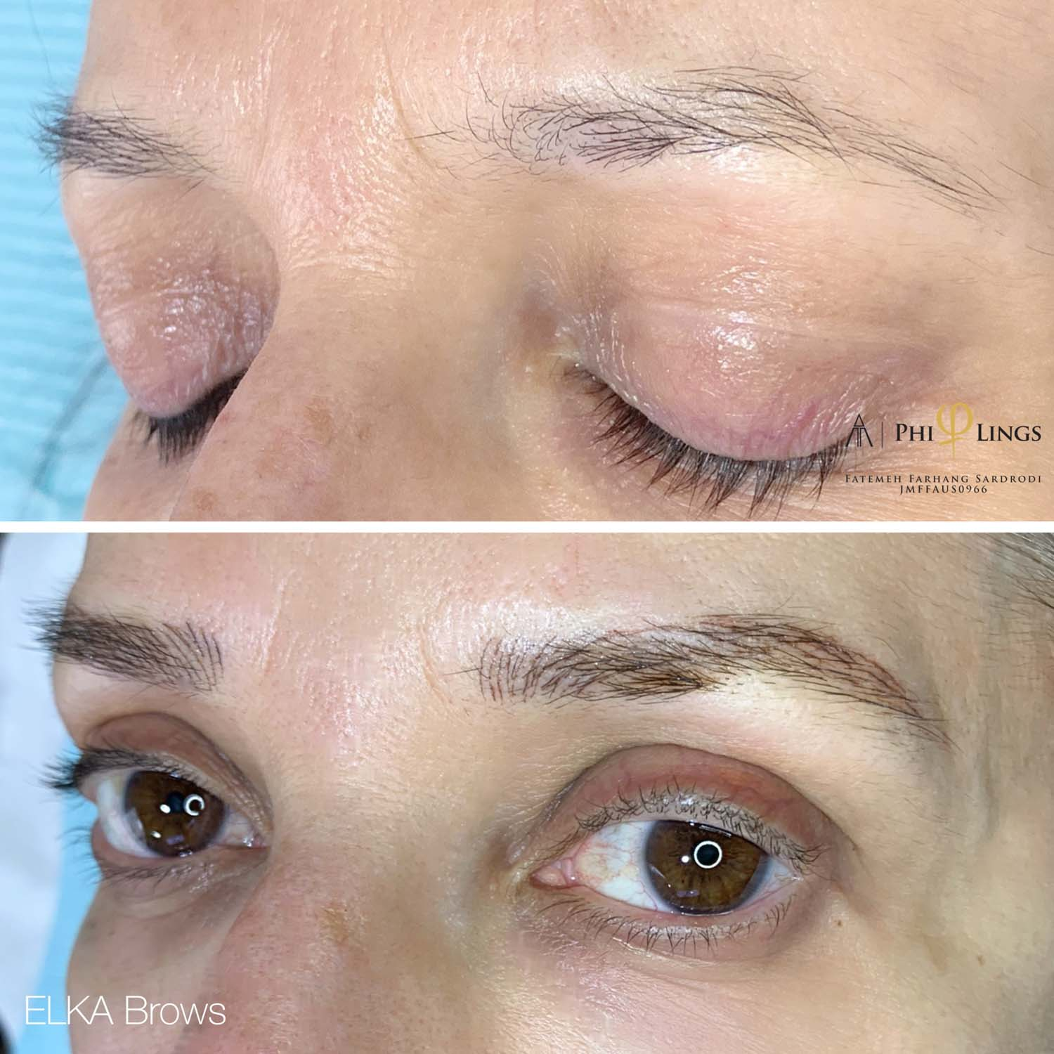 nano brows before & after