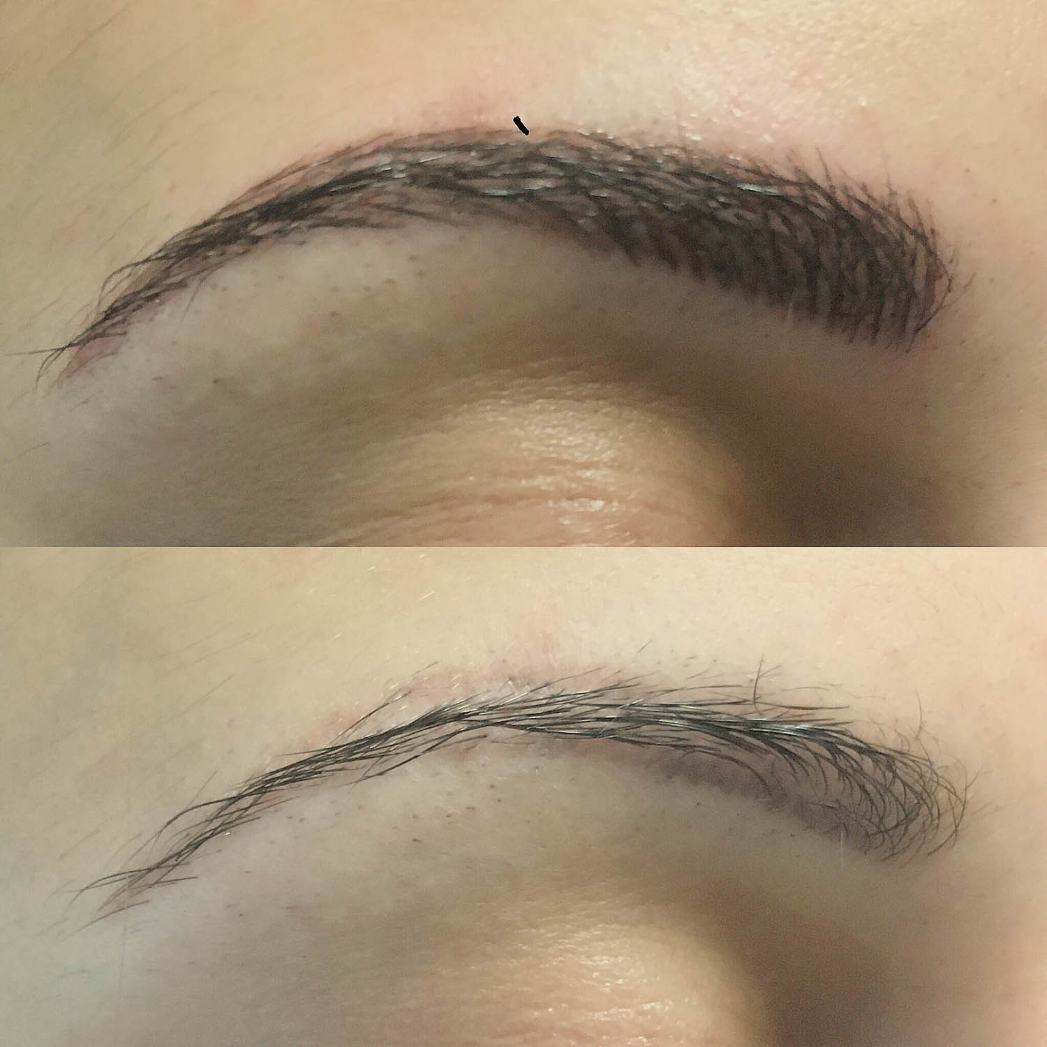 eyebrows after tattoo