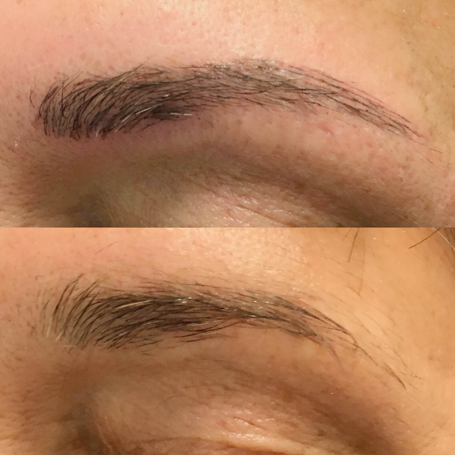 eyebrows after microblading
