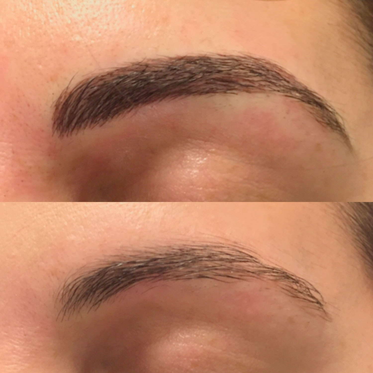 natural eyebrow tattoo
