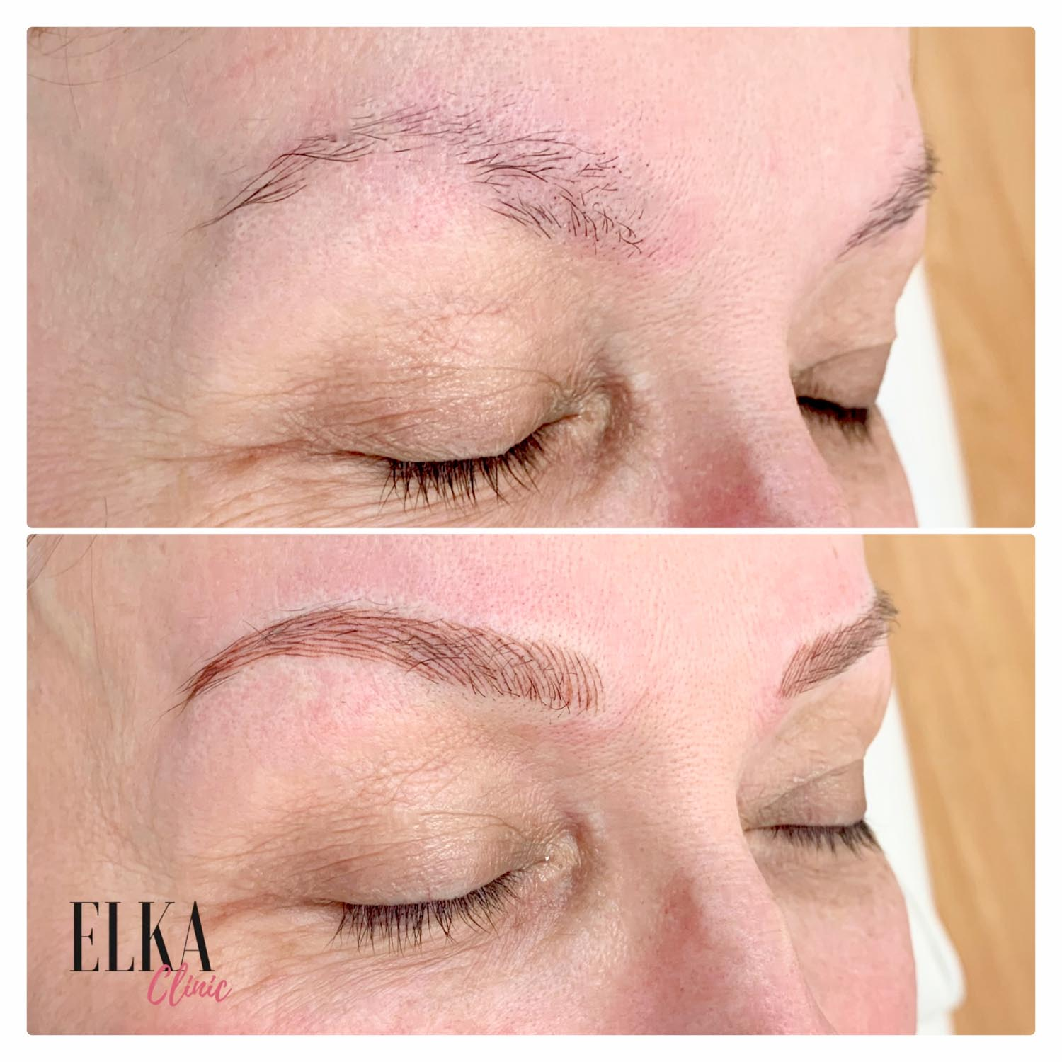 natural eyebrow feathering