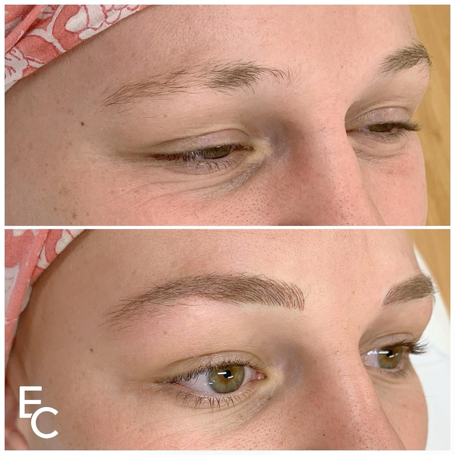 eyebrow feathering