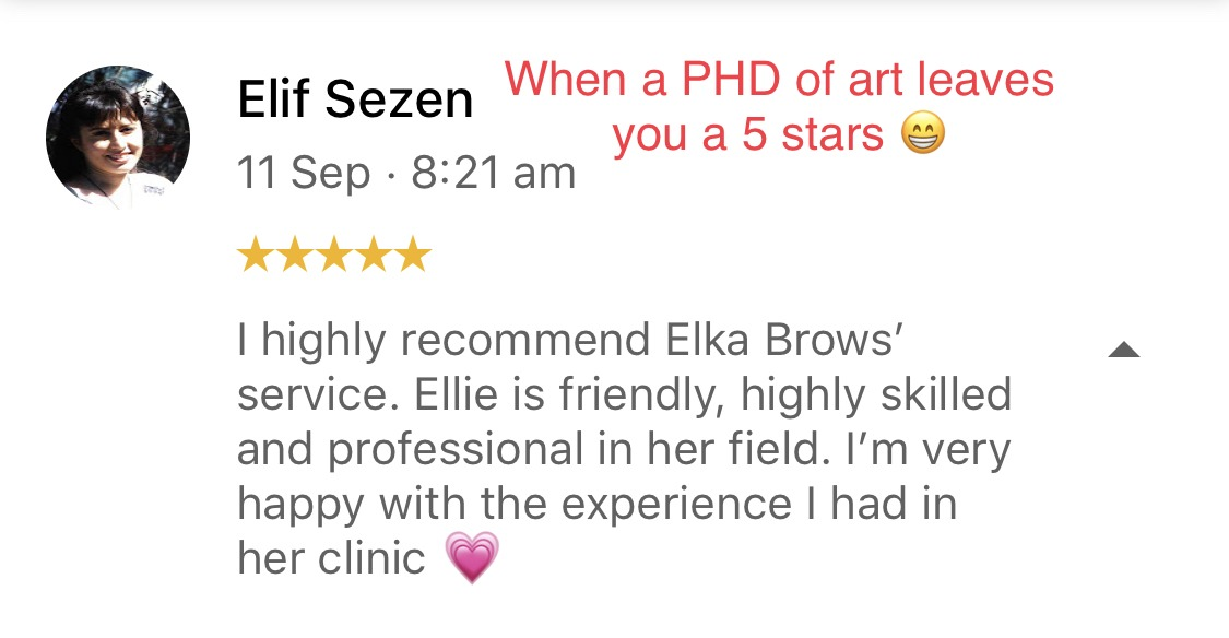 eyebrow tattoo review