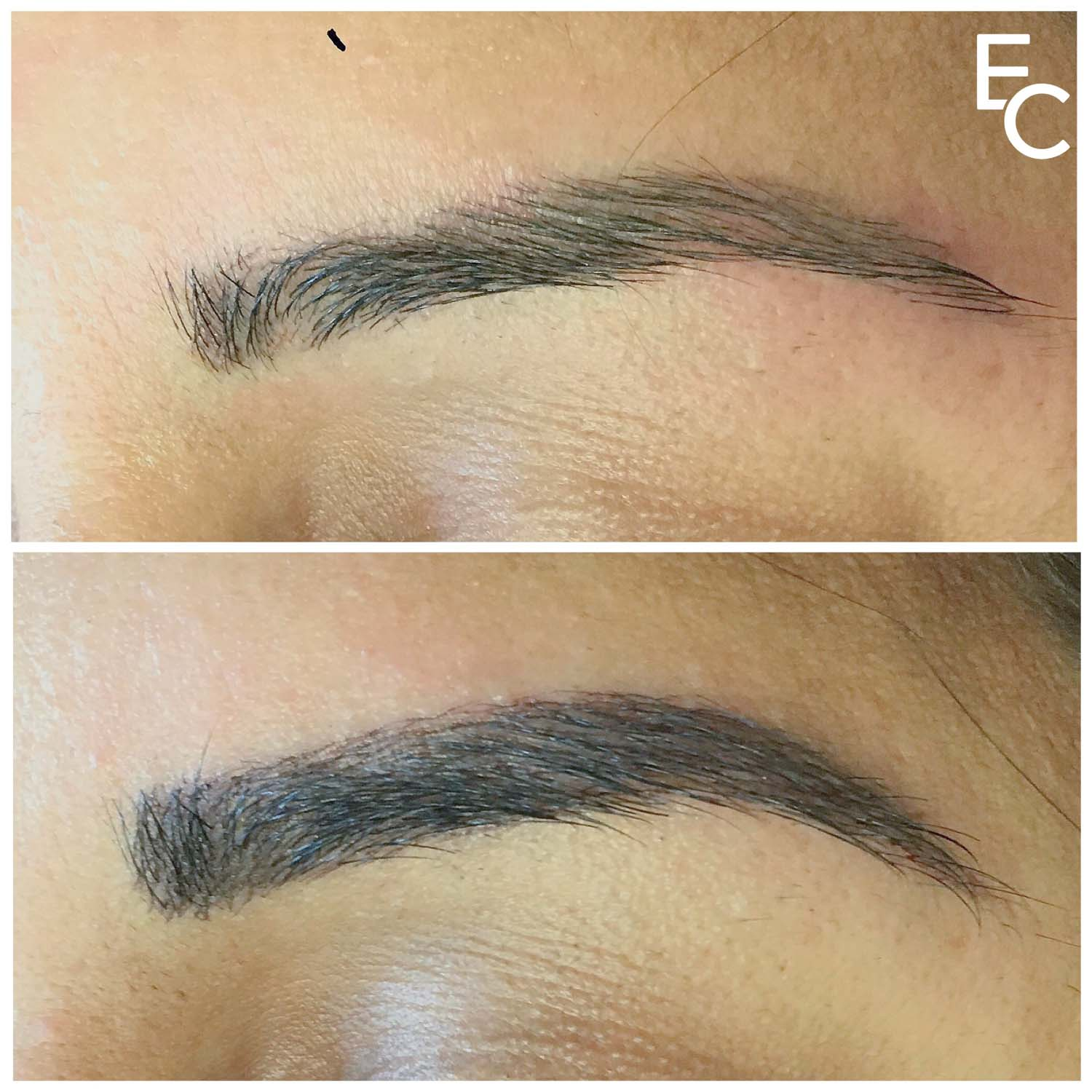 microblading eyebrows touch up
