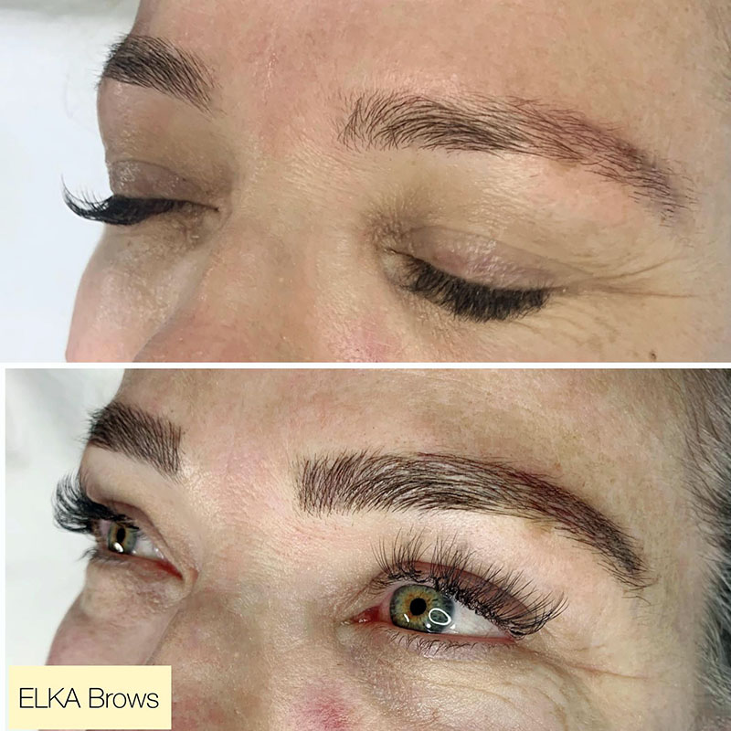 nano brows before and after photos