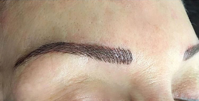 Eyebrow microblading correction by Elka Clinic