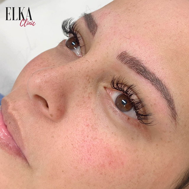 feather touch brows also known as micro feathering or 3D brows