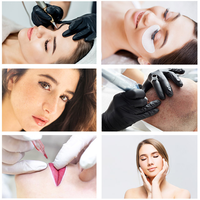 Different types of semi-permanent makeup
