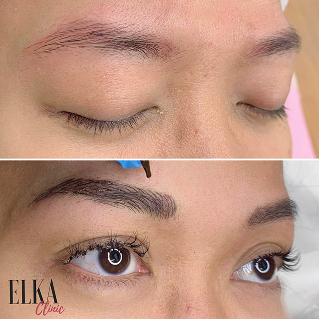 how to pick up right colour for eyebrow microblading or nano brows